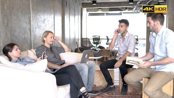 Teamwork Brainstorming At Office