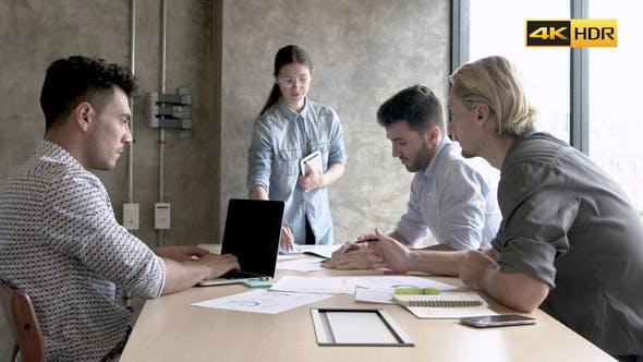 Teamwork Meeting At Office