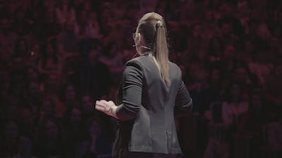 Woman Speech at Business Conference for Managers
