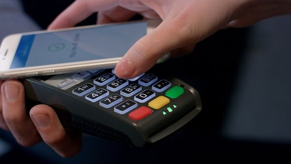 Thumbnail for Payment Transaction with Smartphone Mobile NFC Payment Technology