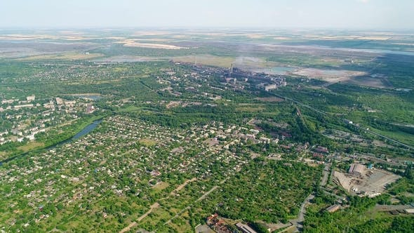 Thumbnail for Aerial Panoramic View of the Industrial City