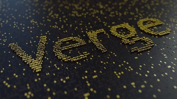 Thumbnail for Verge Word Made of Moving Golden Numbers