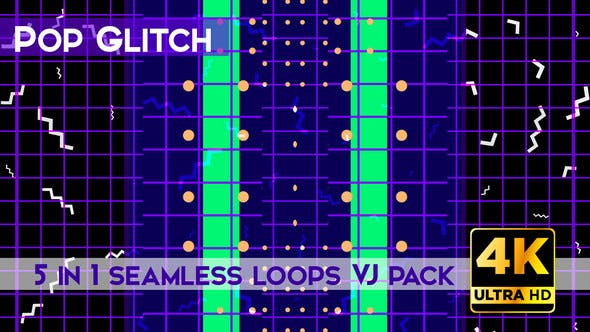 Thumbnail for Pop Glitch VJ Loops