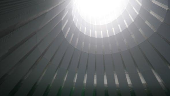 Thumbnail for Brücke über grüne Pools im großen Kühlturm