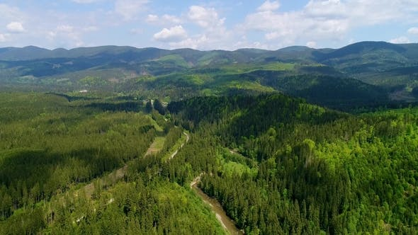 Thumbnail for Aerial View of the Landscape in Mountains