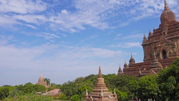 Thumbnail for Htilominlo Pagoda in Bagan, Myanmar, Pan View