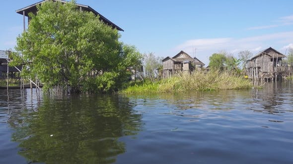 Thumbnail for Stilted Houses in Village on Famous Inle Lake
