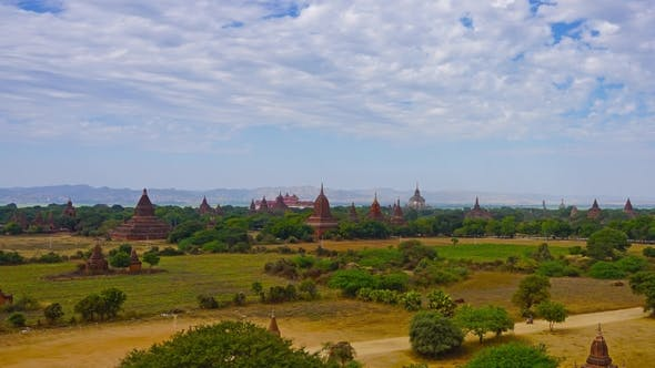 Thumbnail for Panorama with Temples in Bagan, Myanmar,