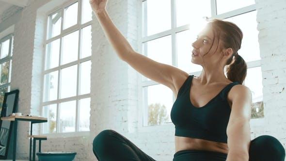 Thumbnail for Cute Girl Doing Exercises