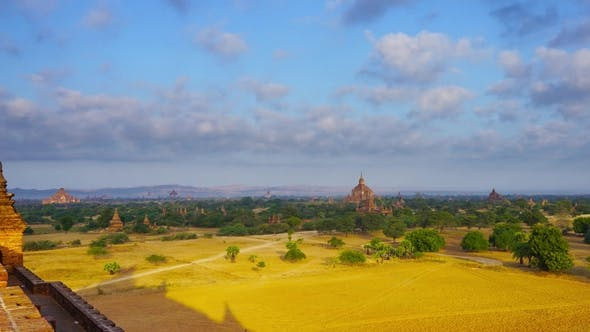 Cover Image for Panorama with Temples in Bagan,