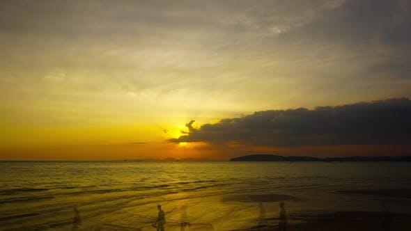 Thumbnail for Tropical Sea Sunset on the Beach,