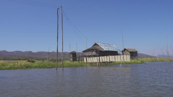 Thumbnail for Stilted Houses in Village on Inle Lake