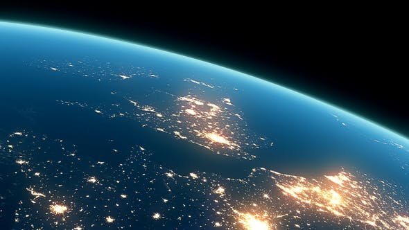Thumbnail for 4K Earth Night Close Up High Detail Northeast Europe and UK