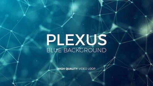 Plexus Blue Background