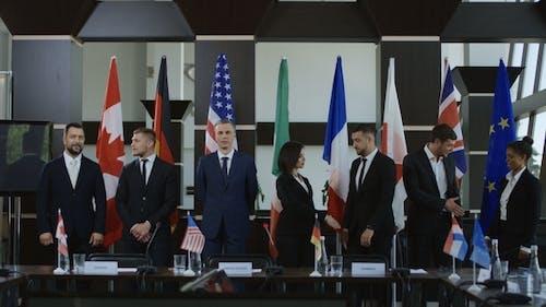 International Leaders Posing for Photo