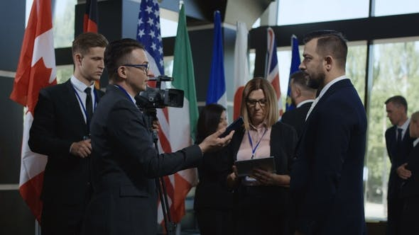 Thumbnail for Journalist Taking Interview From Politician