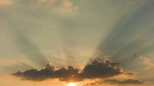 Beautiful Sky with Sun Rays