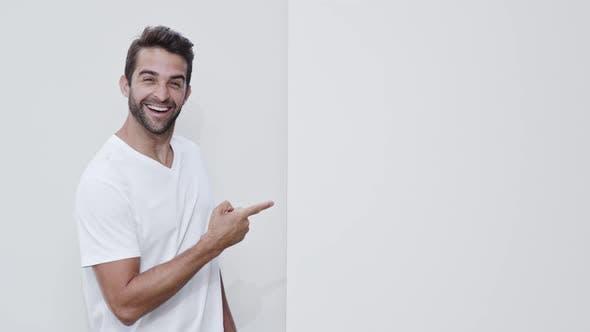 Guy Searching In Studio