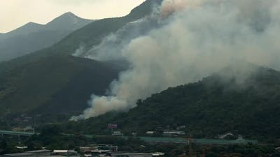 Fire Disaster on Mountain