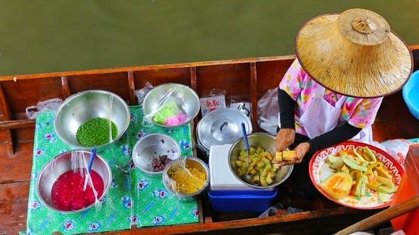 Thumbnail for Cuisine on the Boat - Floating Market in Bangkok