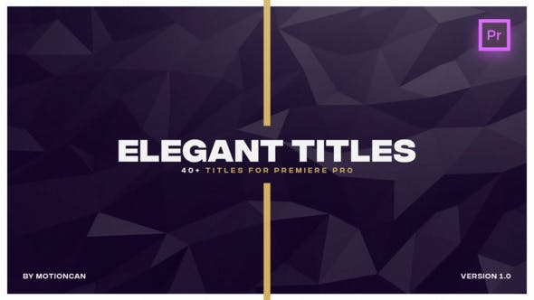 Thumbnail for Elegant Titles - for Premiere Pro | Essential Graphics