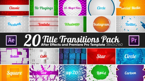 Thumbnail for 20 Title Transitions Pack