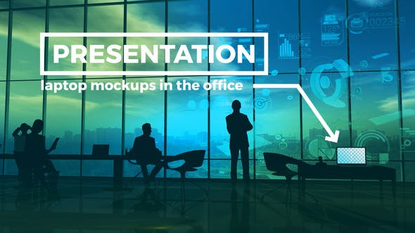 Thumbnail for Laptop Mockups Presentation In The Office