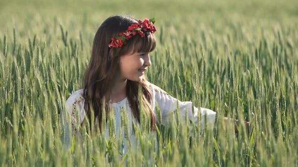 Cover Image for Girl in Wreath Touches Wheat