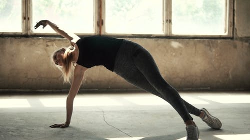Gymnast Works Out