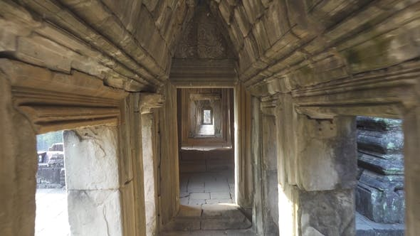 Thumbnail for Walking in Corridor of Temple in Angkor Wat