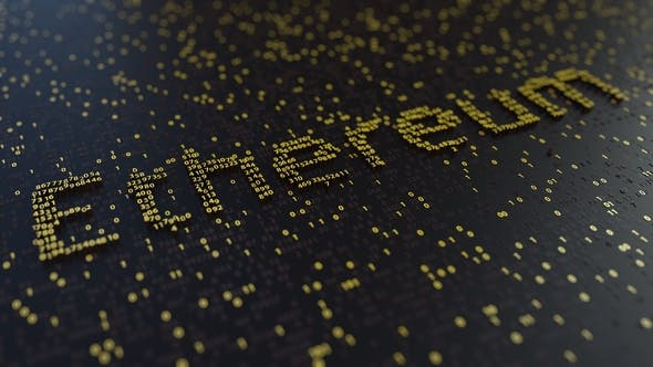Thumbnail for Ethereum Word Made of Moving Golden Numbers