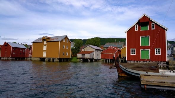 Thumbnail for Old Colored Houses in Mosjoen Norway