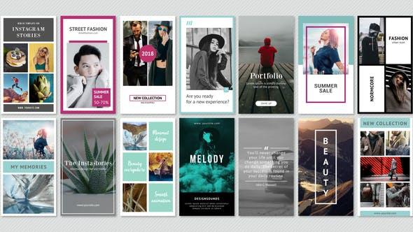 Thumbnail for Instagram Stories Minimal Pack