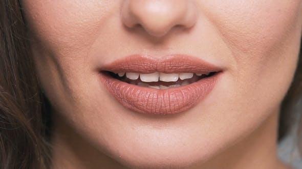 Portrait of Woman's Lips