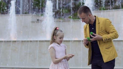 Magician Show Focus To a Little Girl