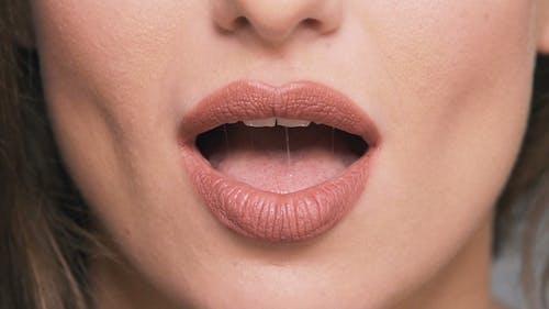 Porträt von Frauen Lippen