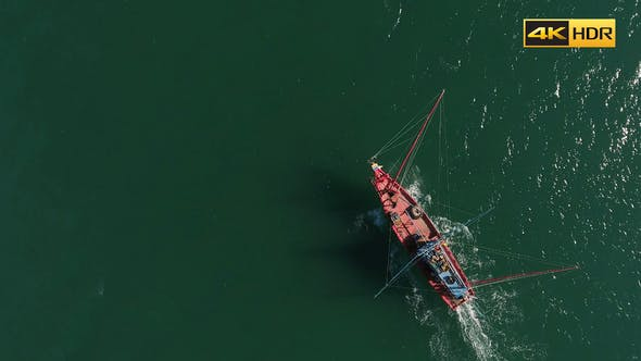 Thumbnail for Flying Above Fishing Boat