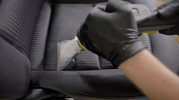 Thumbnail for Shot of a Professional Cleaning Car Seat.
