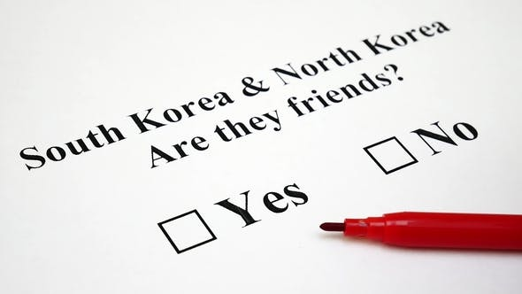 Thumbnail for Concept of Conflict or Friendship Between North and South Korea