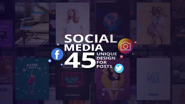Thumbnail for Social Media - 45 Unique Design for Posts