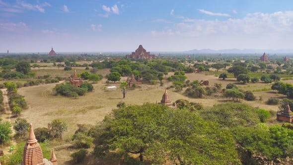 Thumbnail for Panorama Landscape with Temples in Bagan