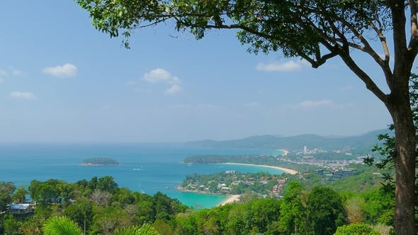 Thumbnail for Ocean and Coastline From High View Point in Thailand