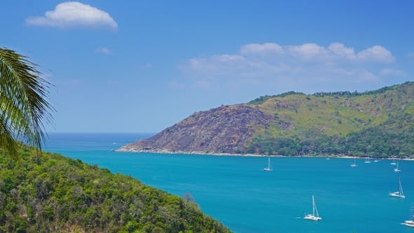 Thumbnail for Ocean with Boats and Coastline, Phuket, Thailand