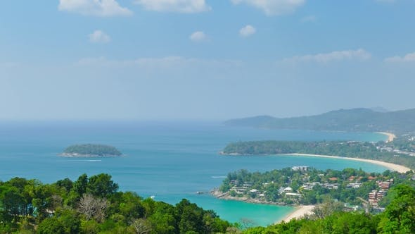 Thumbnail for Ocean and Coastline From High View Point. Thailand