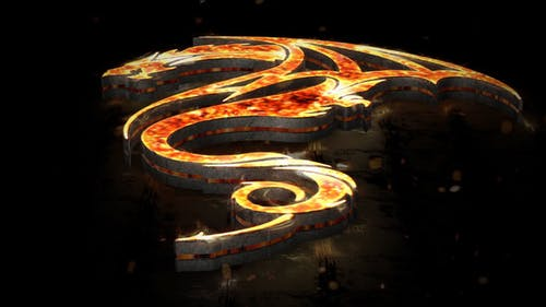 Flames 3D Logo