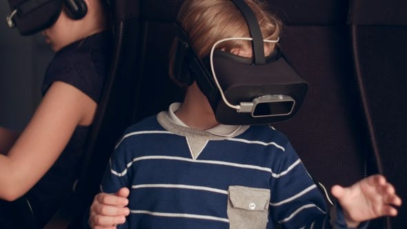 Cover Image for Children Enjoying Virtual Reality Attraction