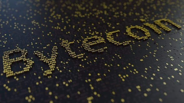 Thumbnail for Bytecoin Word Made of Moving Golden Numbers