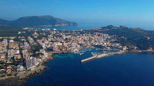 Aerial View Cala Ratjada on the Coast of Mallorca