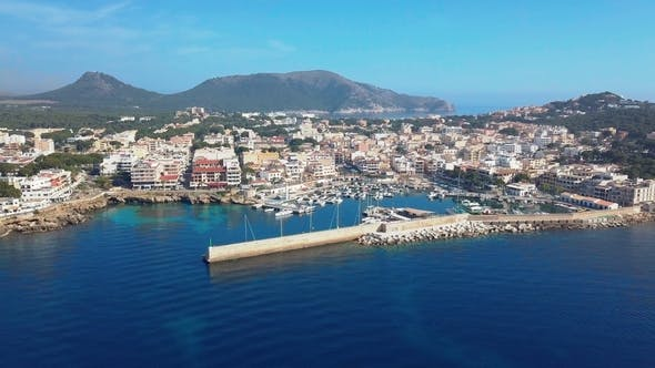 Thumbnail for Aerial View Cala Ratjada on the Coast of Mallorca