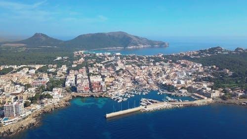 Aerial View. Cala Ratjada on the Coast of Mallorca